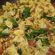 Spinach, Bacon and Pine Nut Pasta