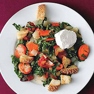 Roasted Vegetable Salad with Garlic Vinaigrette