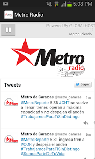 METRO RADIO - screenshot