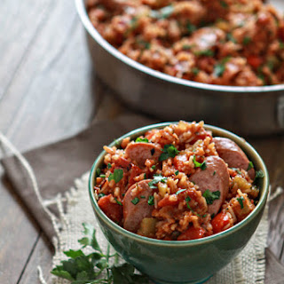 One Pan Easy Smoked Sausage Jambalaya