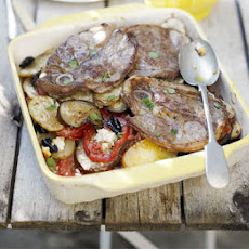 Greek Lamb With Potatoes & Olives