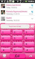 Screenshot of GO CONTACTS - Hot Pink Giraffe