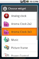 Screenshot of Aroma Clock 4x3