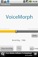 Screenshot of VoiceMorph