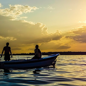 Fishing duo by Boris Romac - Landscapes Sunsets & Sunrises ( sony, premuda, croatia, sea, coguar, dsc, fishermans, hx400v )