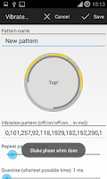 Screenshot of Custom Vibrate Pattern Full