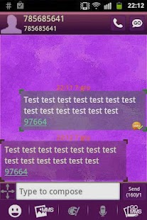 GO SMS Theme Purple Violet Buy - screenshot