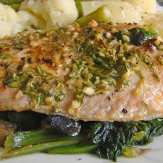 Broiled Salmon With Garlic, Mustard and Herbs