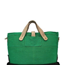 Industry Portage Co Canvas Briefcase in Black & Green