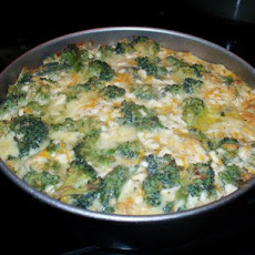 Crustless Broccoli and Cottage Cheese Pie