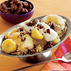 Pineapple-Banana Sundaes