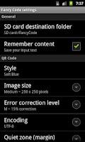 Screenshot of Fancy QR Code