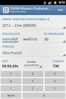 Screenshot of DMSM-Masters Punkterechner