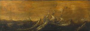 RIJKS: attributed to Andries van Eertvelt: painting 1652