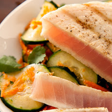 Grilled Tuna with Cucumber Salad Recipe