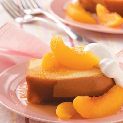 Pound Cake with Brandied Peach Sauce