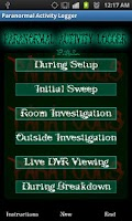 Screenshot of Paranormal Activity Logger