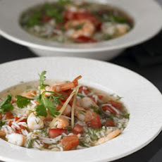 Vietnamese Prawn, Rice & Dill Soup