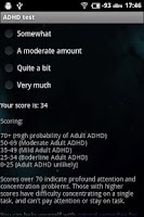 Screenshot of ADHD Self Test