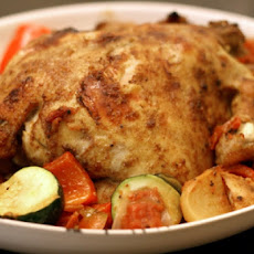 Morrocan-Style Roast Cornish Hens with Vegetables