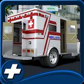 Krankenwagen-Fahrsimulation
