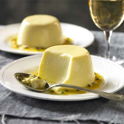 Passion Fruit & Coconut Panna Cotta