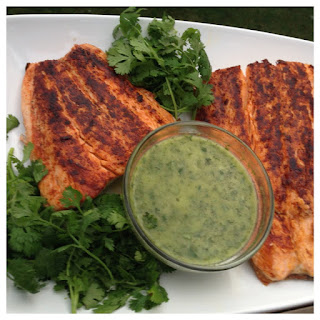 Sautéed Salmon with Cilantro Vinaigrette