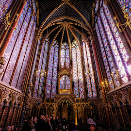 Sainte-Chapelle, Paris by Michael Wiejowski - Buildings & Architecture Public & Historical ( paris, gothic, europe, church, france, travel, chapel )