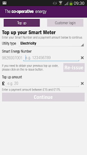Co-operative Energy Smartpay - screenshot