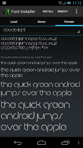 font installer root for android screenshots