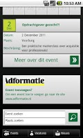Screenshot of MARCOM Events