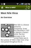 Screenshot of West Nile Virus