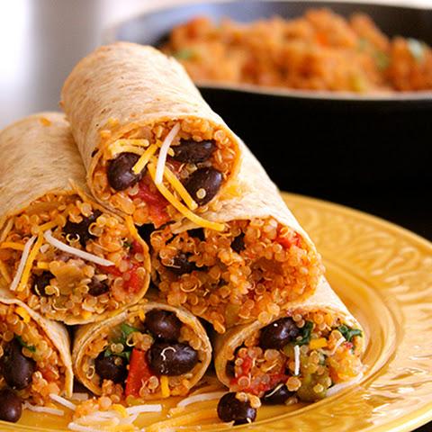 ... wild rice wrap recipes dishmaps pinto bean quinoa and wild rice wrap