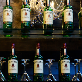 Jamesons Bottles by Tina Hailey - Food & Drink Alcohol & Drinks ( jameson bottles, alcohol, tinas capture moments,  )