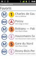 Screenshot of RER & Tram Paris area
