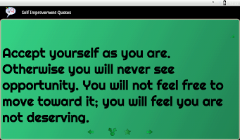 Screenshot of Self Improvement Quotes