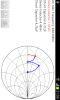 Screenshot of Smith Chart Matching Calc