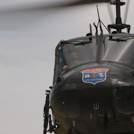 In the driving seat by Tommy  Cochrane - Transportation Helicopters ( bell, pilot, huey, uh-1, bell uh-1 iroquois )