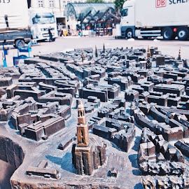 Miniature of hamburg in front of the Rathaus , made by copper and gives a precise details by Valeria Vanessa - Instagram & Mobile Instagram ( vscocam, wanderfolk, premiumposts, peoplescreatives )