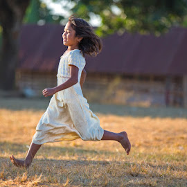 The Winner! by Richard Duerksen - Babies & Children Children Candids ( girl, relay races, samziuram, running, kuki, peden villiage )