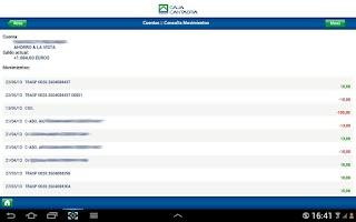 Screenshot of Banca Online Caja Cantabria