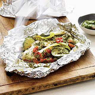 Pesto Chicken Grill Packets