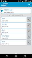 Screenshot of AlcDroid Alcohol Tester
