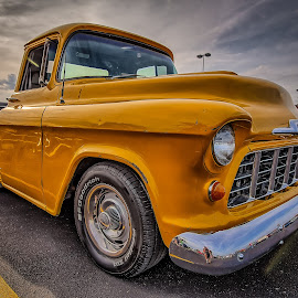 Yellow Truck by Ron Meyers - Transportation Automobiles