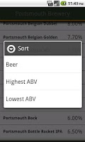 Screenshot of Any Beer ABV Free