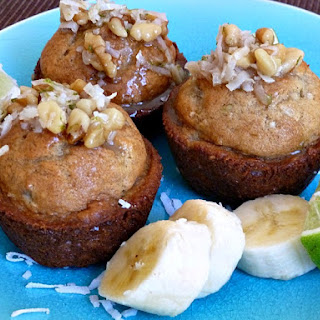 Jamaican Lime Banana Bread Muffins