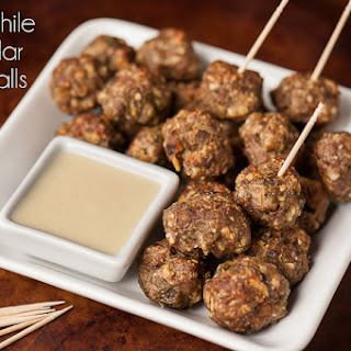 Green Chile Cheddar Meatballs