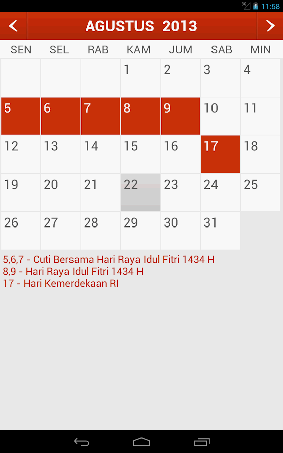 Kalender Indonesia for PC
