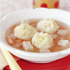 Turkey Soup With Cheddar Dumplings