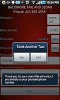 Screenshot of Baltimore Taxi and Sedan